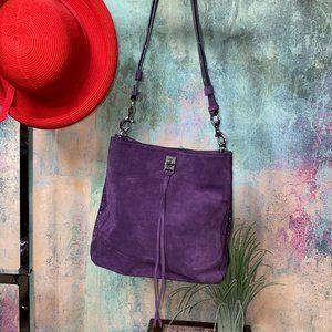 📌Rebecca Minkoff Suede Shoulder Bag purple/silver